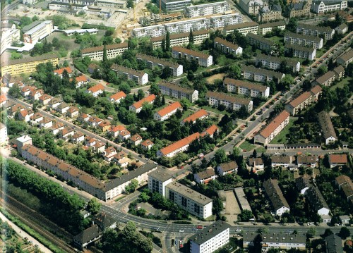 Luftbild der Postsiedlung von 1987